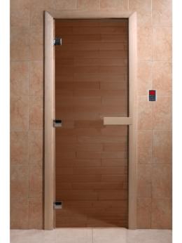 Двери - Дверь для сауны стеклянная, короб ольха 2000х900…, 0