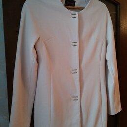 Пиджаки - Пиджак-жакет удлиненный новый молочно-песочного цв, 0