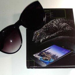 Очки и аксессуары - Фиолетовые солнечные очки с градиентом, 0