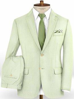 Костюмы - Бледно зеленый костюм из шерсти – Scabal, 0