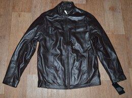 Куртки - Куртка кожаная Alfani, темно-коричневая, 0