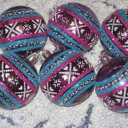 Ёлочные украшения - 6 шаров, 0