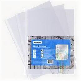 Кронштейны и стойки - Файл А4 22-25 мкм с перфорацией OfficeSpace, глянцевые, цена за упаковку, в упак, 0