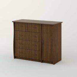 Комоды - Комод (5 ящиков) с дверью (Новая мебель)., 0
