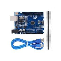 Системы Умный дом - Arduino Uno R3 с USB кабелем (совместимая), 0