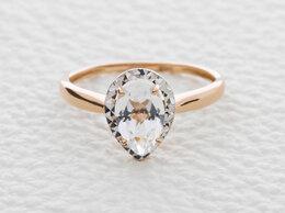 Кольца и перстни - Кольцо с горным хрусталём из красного золота, 0