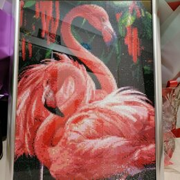 Картины, постеры, гобелены, панно - Картина алмазная фламинго, 0