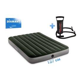 Надувная мебель - 137*191*25 Матрас надувной с насосом Intex 64108н, 0