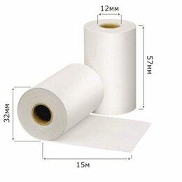 Бумага и пленка - Чековая лента  57*32мм 15м  12*27 (324шт) термолента, 0