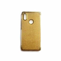 Чехлы - Xiaomi Mi 8 SE чехол золотой силиконовый, 0