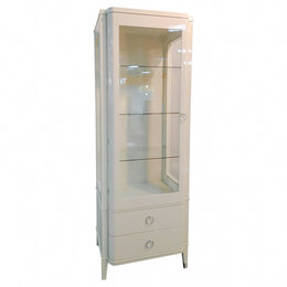 Мебель для кухни - Шкаф-витрина с ящиками бежевый Modena, 0