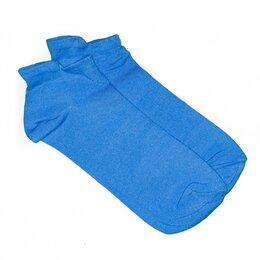 Колготки и носки - Носки женские укороченные с бортиком, голубые, 0