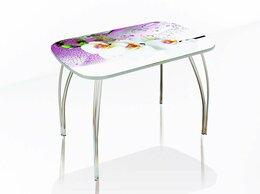 Столы и столики - Стол обеденный со стеклом Агат (Фотопечать), 0