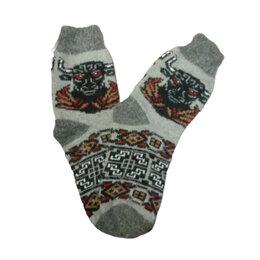 Носки - Носки шерстяные двойной вязки - Год Быка, 0