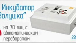 Товары для сельскохозяйственных животных - Инкубатор для цыплят Золушка 220/12 V 70 яиц…, 0