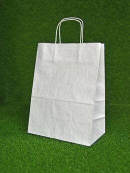 Пакеты - Крафт пакет с кручеными ручками, 350х260х140 мм…, 0