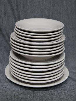 Блюда и салатники - Набор столовый из фаянса. Розовый. СССР, 0