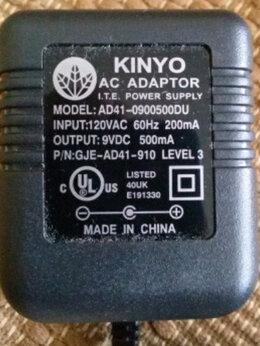 Зарядные устройства и адаптеры - Блок питания 9В 500 mA kinyo, 0