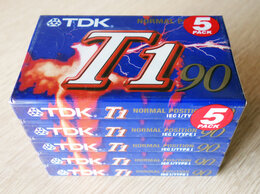 Музыкальные центры,  магнитофоны, магнитолы - TDK - T1 90 - Type I - Кассета - 5 шту, 0