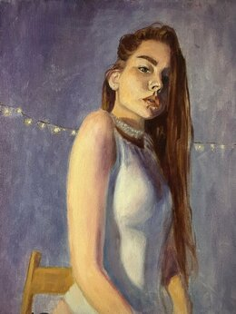 Картины, постеры, гобелены, панно - Картина маслом, портрет  , 0