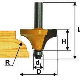 Для фрезеров - Фреза кром. калевочная ф28,6х14мм R8мм хв 8мм, 0