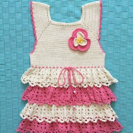 Платья и юбки - Нарядное вязаное платье для девочки, 80-86, 0
