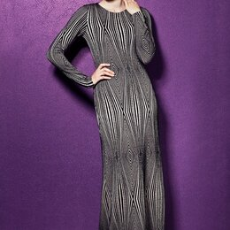 Платья - Длинное платье с геометрическим принтом из Латвии PB3 49, 0