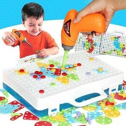 Игровые наборы и фигурки - Конструктор с шуруповертом Creative Mosaic , 0