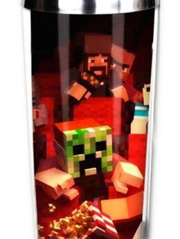 Кружки, блюдца и пары - Термокружка Minecraft Creeper в кинотеатре,, 0