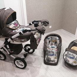 Коляски - Коляска детская 3 в 1 Adamex Barletta Cars, 0