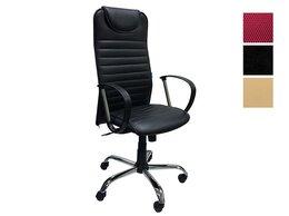 Компьютерные кресла - Кресло Страйк кожзам черное, 0