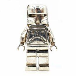 Игровые наборы и фигурки - Минифигурка LEGO Старый Boba Fett Мандалорец серебро 925 пробы, 0