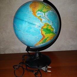 Глобусы - Физический глобус Земли с подсветкой, 320 мм, 0