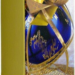 Подарочная упаковка - Коробка подарочная под бутылку, складывающаяся, 1 шт., 9,5x9,5x33,5 см, в пакете, 0