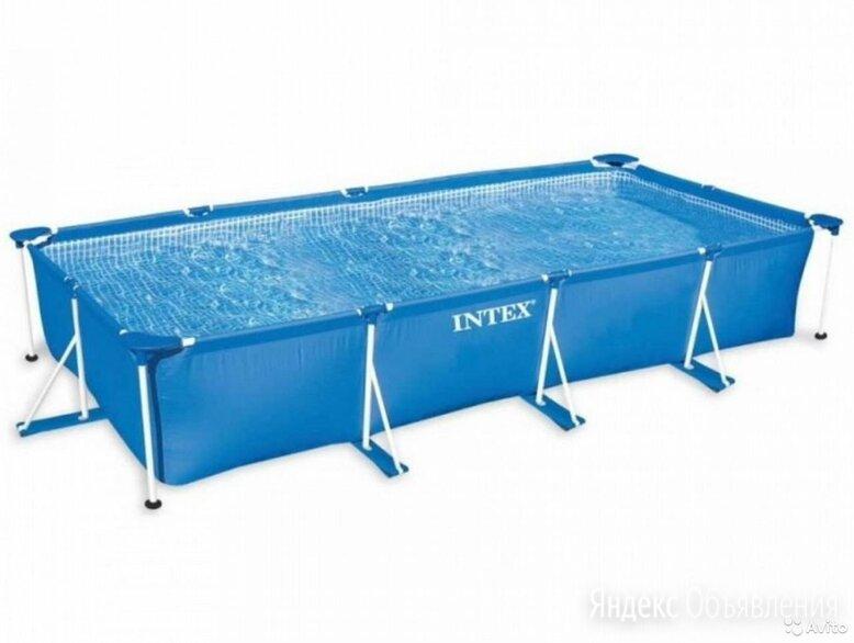 Бассейн каркасный 300х200х75 см, 3.834 л, прямоугольный, синий, Intex по цене 12600₽ - Бассейны, фото 0