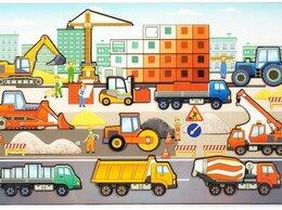 Развивающие игрушки - Стройплощадка Доска с вкладышами новая, 0