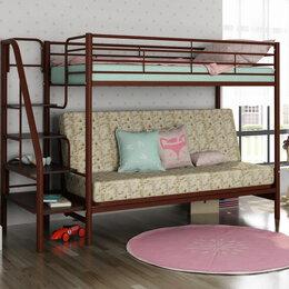 Кровати - Кровать двухъярусная Мадлен 3 с диваном, 0