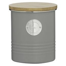 Ёмкости для хранения - Банка для хранения чая 1 л серая Living, 0