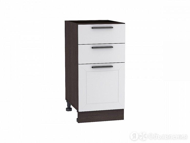 Шкаф нижний с 3-мя ящиками Глетчер Н 403 Гейнсборо Силк-Венге по цене 4256₽ - Мебель для кухни, фото 0