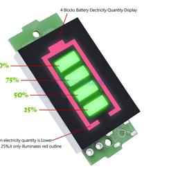 Измерительные инструменты и приборы - Индикатор  литиевой батареи 11.1в-12.6в (зеленый), 0