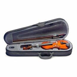 Смычковые инструменты - STAGG VL-1/4 Скрипка акустическая размера 1/4 в футляре, смычок и мостик в к..., 0