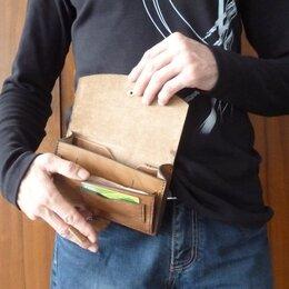 Сумки - Поясная сумка из натуральной кожи, 0
