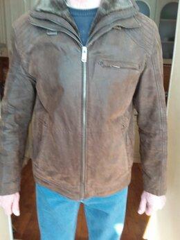 Куртки - Зимняя мужская куртка б.у -выворотка(кожа)., 0