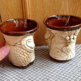 Бокалы и стаканы - Армуд стаканы бараны керамика СССР  , 0