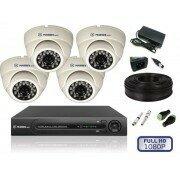 Камеры видеонаблюдения - Комплект видеонаблюдения для помещений на 4 камеры, 0