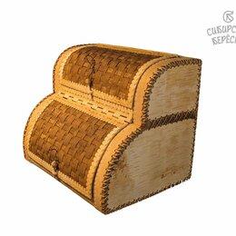 Хлебницы и корзины для хлеба - Хлебница двухэтажная из бересты, 0
