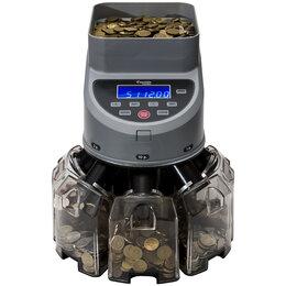 Детекторы и счетчики банкнот - Сортировщик монет Cassida CoinMax, 850 монет/минута, ЖК дисплей, 0