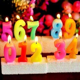 Украшения для организации праздников - Свеча цифра на день рождения, 0