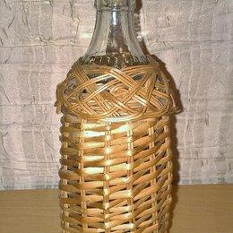 Ёмкости для хранения - Бутылочка оплетенная лозой с пробкой, 0