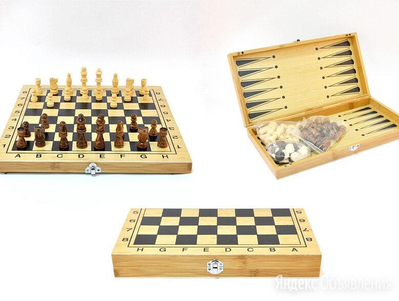 """Игра 3в1 """"Шашки, шахматы, нарды"""" 40*40 см. по цене 1350₽ - Игровые приставки, фото 0"""